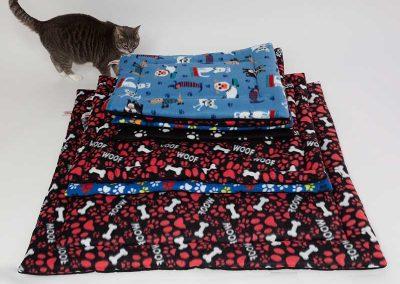fleece cat bed
